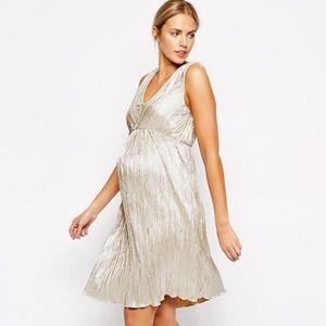 ASOS Maternity Pleated Midi Dress